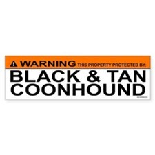 BLACK TAN COONHOUND Bumper Car Sticker