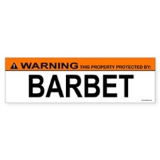 BARBET Bumper Bumper Sticker