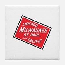 Badge of Chicago, Milwaukee, St.Paul Tile Coaster