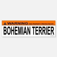 BOHEMIAN TERRIER Bumper Bumper Bumper Sticker