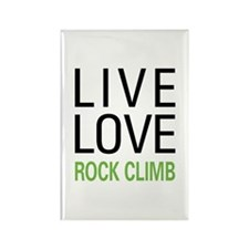 Live Love Rock Climb Rectangle Magnet (10 pack)