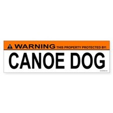 CANOE DOG Bumper Bumper Sticker