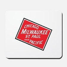 Badge of Chicago, Milwaukee, St.Paul & P Mousepad