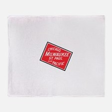 Badge of Chicago, Milwaukee, St.Paul Throw Blanket