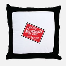 Badge of Chicago, Milwaukee, St.Paul Throw Pillow