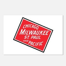 Badge of Chicago, Milwauk Postcards (Package of 8)