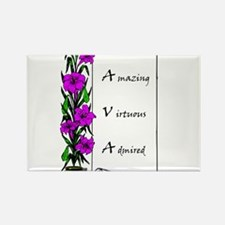 Ava Flowers & Scroll Magnets