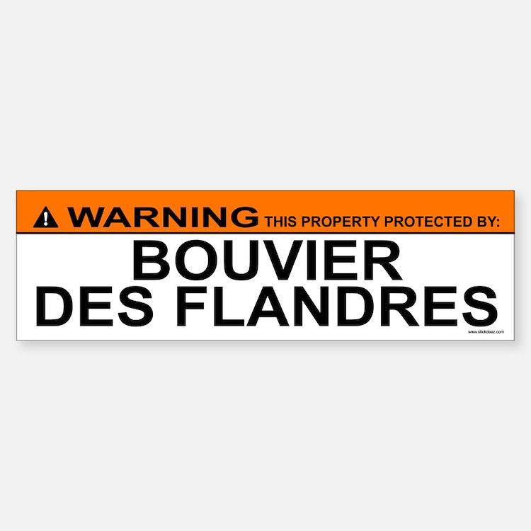 BOUVIER DES FLANDRES Bumper Car Car Sticker