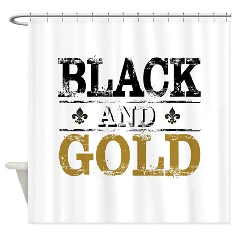 BLACK AND GOLD Shower Curtain By Admin CP129519821