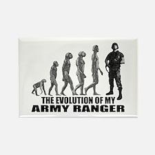 Evolution - An Army Ranger Rectangle Magnet