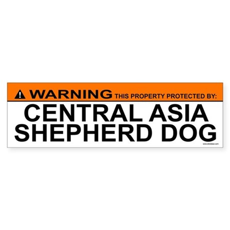 CENTRAL ASIA SHEPHERD DOG Bumper Sticker