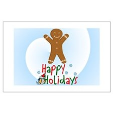 HAPPY HOLIDAYS-GINGERBREAD MA Large Poster