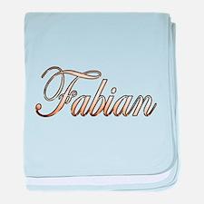 Gold Fabian baby blanket