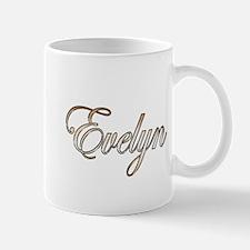 Gold Evelyn Mugs
