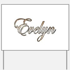Gold Evelyn Yard Sign
