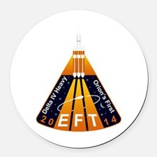 EFT-1 Launch Team Round Car Magnet