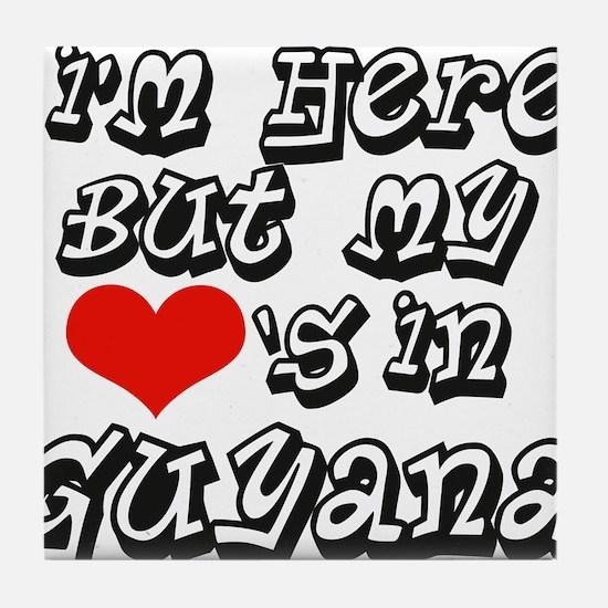 Hearts in Guyana Tile Coaster
