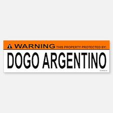 DOGO ARGENTINO Bumper Bumper Bumper Sticker