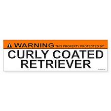 CURLY COATED RETRIEVER Bumper Bumper Sticker