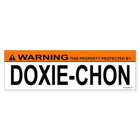 DOXIE-CHON Bumper Sticker