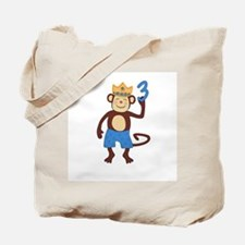 3rd Birthday Monkey Boy Tote Bag