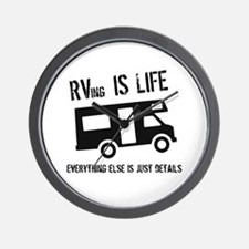 RVing is Life Wall Clock