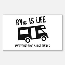 RVing is Life Rectangle Decal