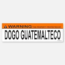 DOGO GUATEMALTECO Bumper Bumper Bumper Sticker
