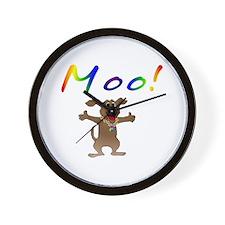 Mooing Dog Wall Clock