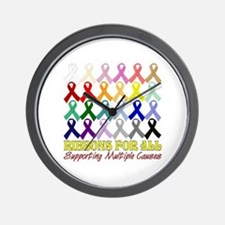 ...Ribbons For All... Wall Clock