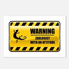 Warning Zoologist Postcards (Package of 8)