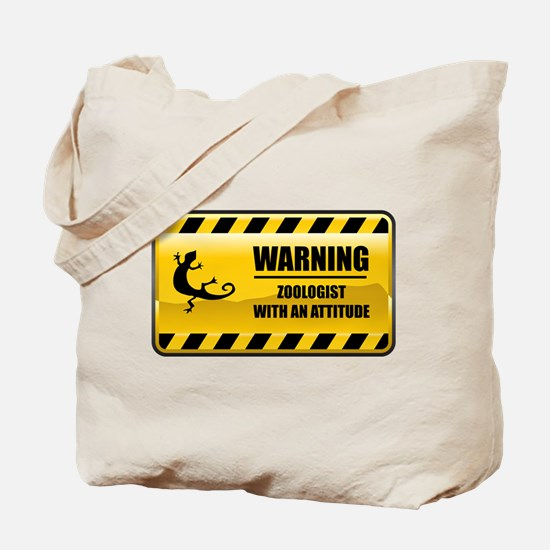 Warning Zoologist Tote Bag