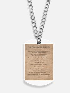 The Ten Commandments Dog Tags