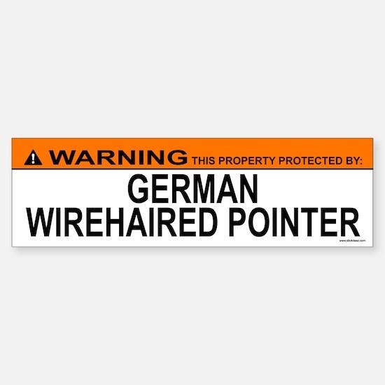 GERMAN WIREHAIRED POINTER Bumper Bumper Bumper Sticker