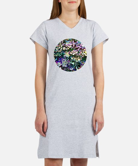 Colorful Abstract Plants Women's Nightshirt