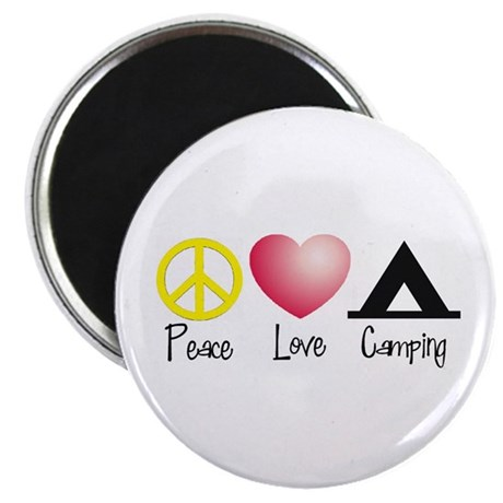 "Peace, Love, Camping 2.25"" Magnet (10 pack)"