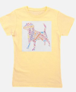 Cute Assistance dogs Girl's Tee