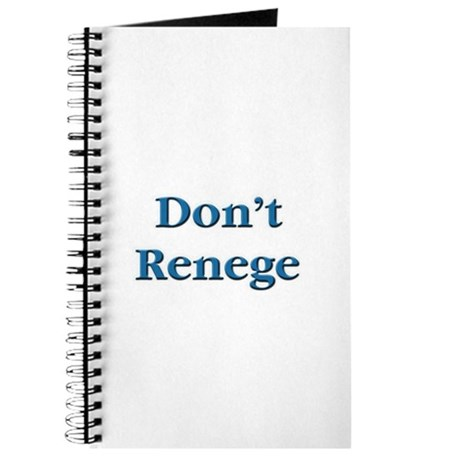 Don't Renege Euchre Journal