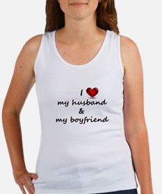 I Love my husband and my Boyfriend Tank Top