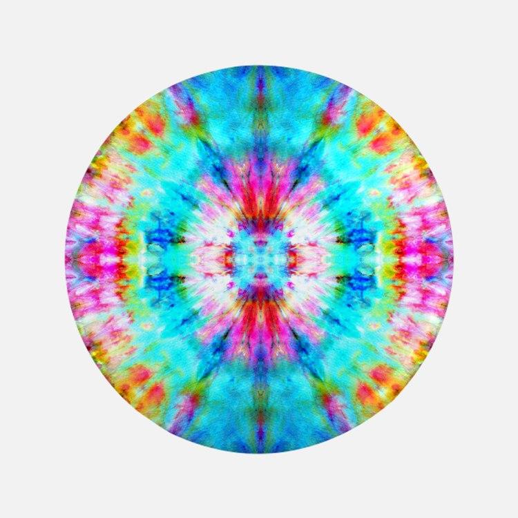 Rainbow Sunburst Button