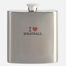 I Love MEATBALL Flask