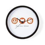 Peace. Love. Softball. Wall Clock