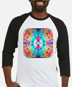 Rainbow Sunburst Baseball Jersey