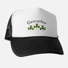Geocacher 3 Shamrocks Trucker Hat