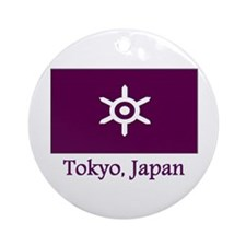 Tokyo JP Flag Ornament (Round)