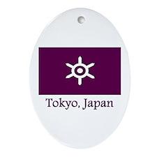 Tokyo JP Flag Oval Ornament