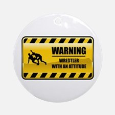 Warning Wrestler Ornament (Round)