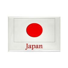 Japan Flag Rectangle Magnet