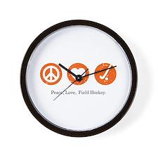 PEACE. LOVE. FIELD HOCKEY Wall Clock