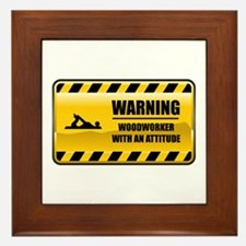 Warning Woodworker Framed Tile